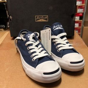 Navy Blue Jack Purcell Converse Low. Size 4.5 Mens